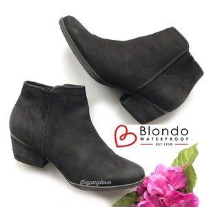 BLONDO Black Burnished Leather Valli Ankle Boots 8